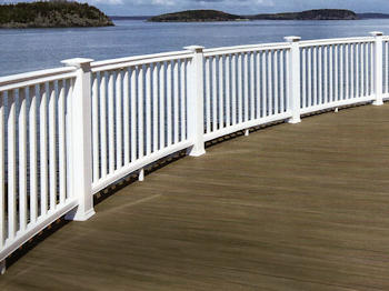 Choose from many styles of railings for your deck at Security Fence Company, Red Lion, PA