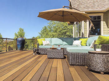 Composite decking boards offer a mid-range option from Security Fence Company, Red Lion, PA
