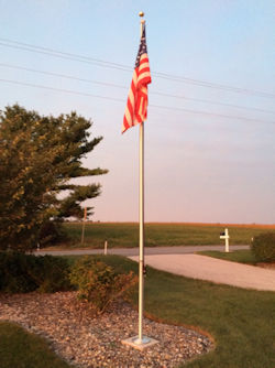 Honor the U.S. with flags and flagpoles from Security Fence Company, Red Lion, PA